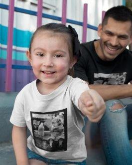 Camiseta Criança Sorrindo para Pinguim Infantil