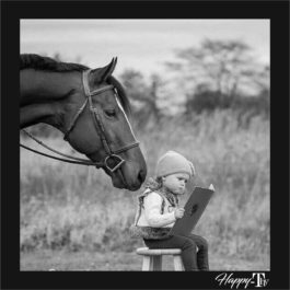 Camiseta Menina e Cavalo