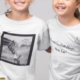 Camiseta Menina e Cavalo Infantil