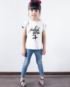 Camiseta I Need You Infantil